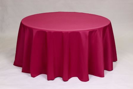 Raspberry Poly solid linen