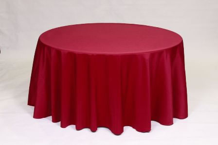 Ruby red Poly solid linen