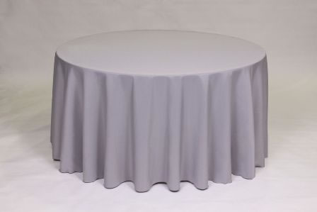 Silver Poly solid linen