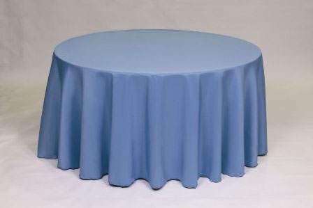 Slate blue solid Poly linen
