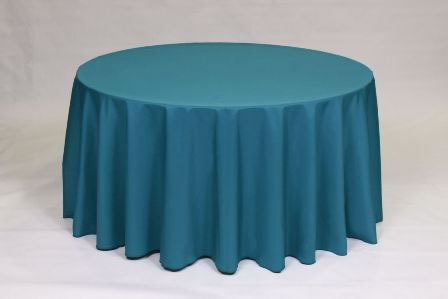 Teal Poly solid linen