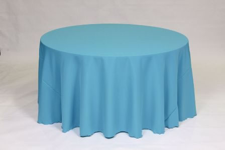Turquoise Poly solid linen