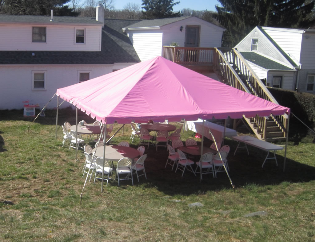 A to Z PARTY RENTAL – 20′ x 20′ Pink Frame