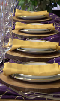 Ato Z Party Rental place setting