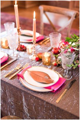 All That Glitters oval china rental
