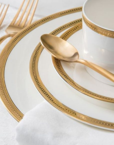 Dauphine gold accent plate rental
