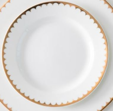Duchess gold accent plate 8 inch