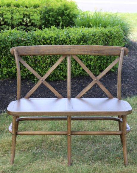 crossback farm bench brown