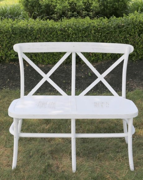 crossback bench white wash