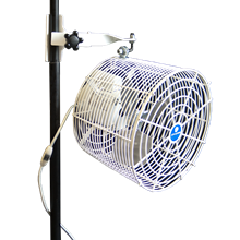 pole mount tent fan