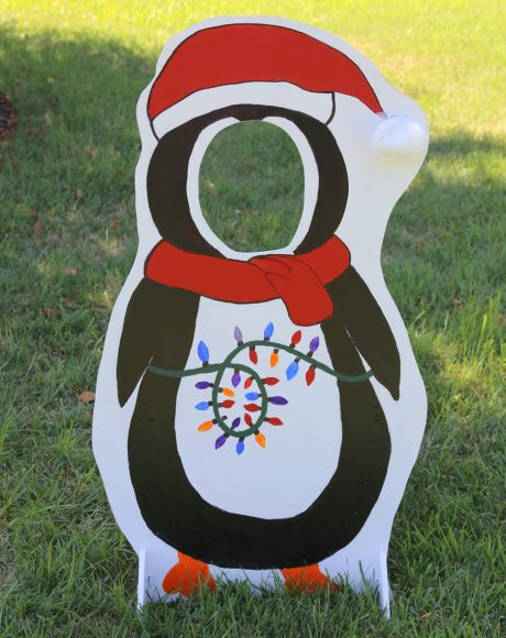 kids penguin selfie photo cut out board