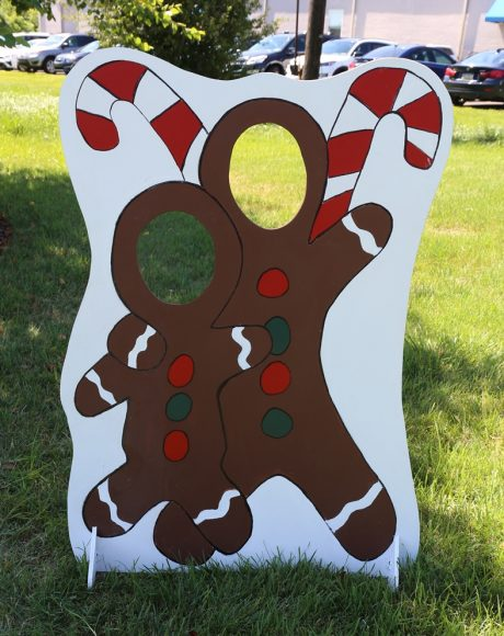 Gingerbread Christmas Cut out photo board for two people