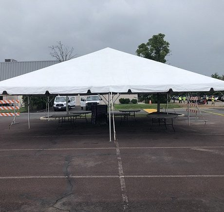 20x20 frame tent for virus testing