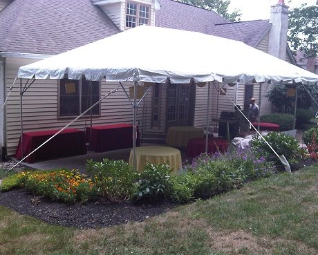16x24 frame tent for restaurant seating