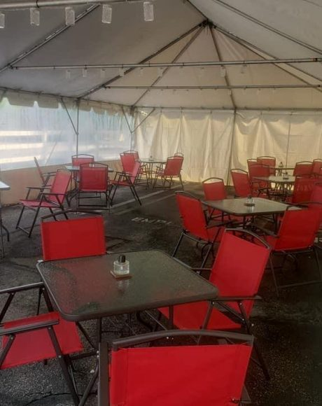 20x40 frame tent for restaurant seating