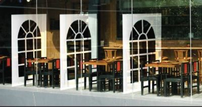 vinyl divider for restaurants and cafeterias