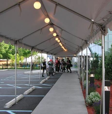 9' x 10'marquee tent for restaurant seating