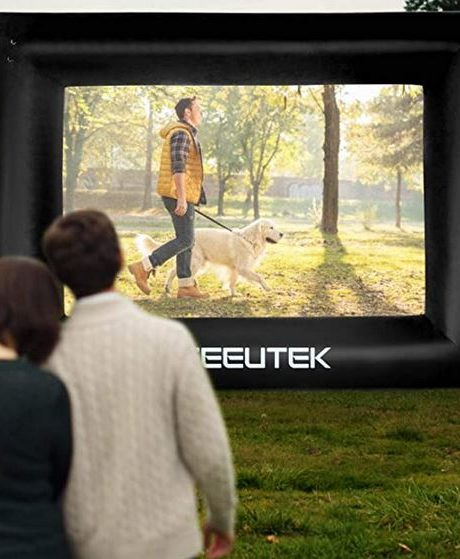 view of outdoor inflatable screen