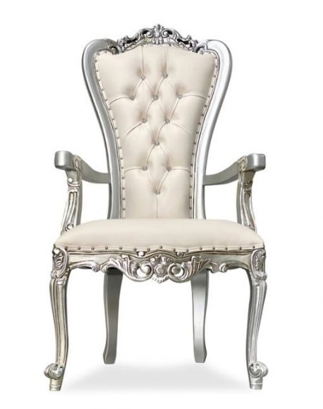 Throne Chair Silver_Ivory