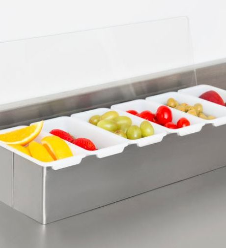 condiment bar 6 sections