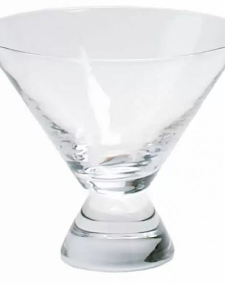 martini stemless footed glass